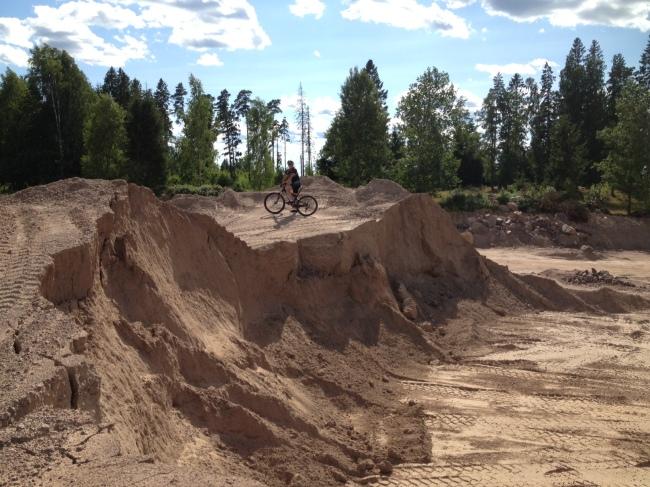 Gårdagens runda gick igenom en sandgrop.