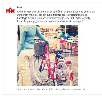 cykla till max